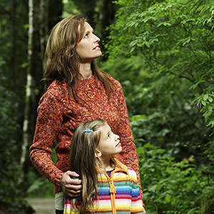 Mother & Daughter in Forest